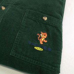 Disney Mens Large Corduroy Shirt Green Tigger